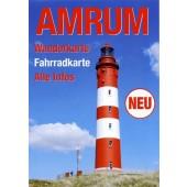 Amrum - Wanderkarte - Fahrradkarte